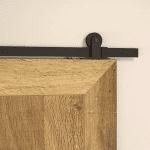 Zelf een schuifdeur maken - Klassiek schuifdeursysteem zwart - Bovenop schuifdeur