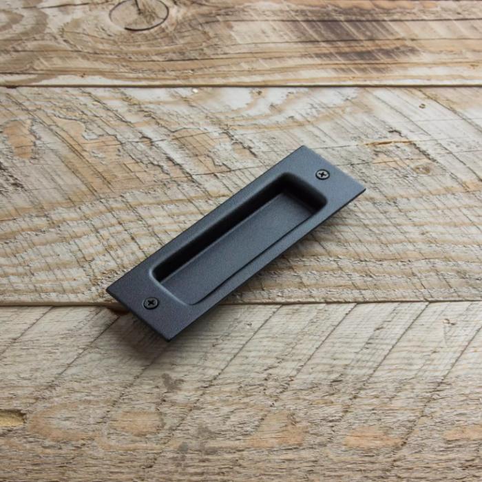 Schwarz Griffmulde In den Dimensionen 165mm 53mm